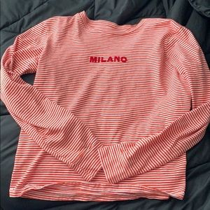 This is a red and white cotton on long sleeve